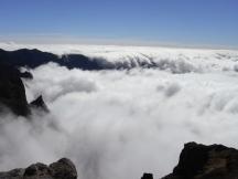 Voll bedeckt vom Nebel